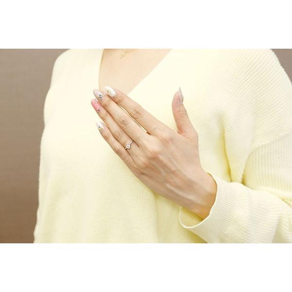 エンゲージリング シルバー ダイヤモンド ピンキーリング 大粒 一粒 指輪 婚約指輪 リング ストレート sv925 母の日