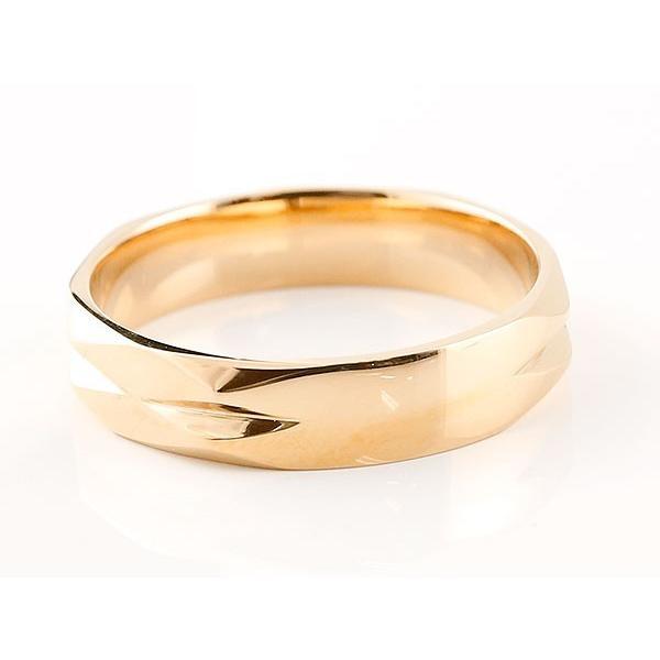 ペアリング ダイヤモンド ピンクゴールドk10 結婚指輪 マリッジリング カットリング 菱形 k10 10金 宝石 母の日