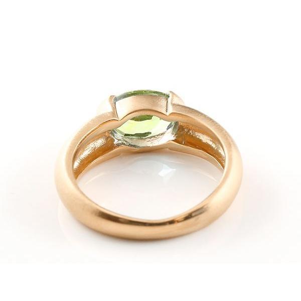 ペアリング ピンクゴールドk10 大粒 一粒 ペリドット リング 結婚指輪 マリッジリング 10金 指輪 母の日