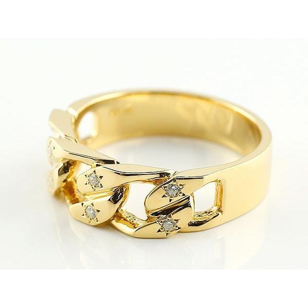 メンズ 喜平リング ダイヤモンド イエローゴールドK18 リング 指輪 婚約指輪 18金 キヘイ 鎖 ダイヤ 男性用 コントラッド 東京|atrus|02