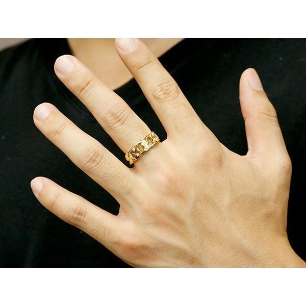 メンズ 喜平リング ダイヤモンド イエローゴールドK18 リング 指輪 婚約指輪 18金 キヘイ 鎖 ダイヤ 男性用 コントラッド 東京 Xmas Christmas|atrus|04