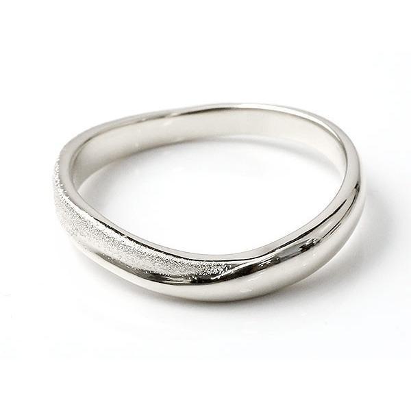 ピンキーリング 指輪 リング シルバー 婚約指輪 エンゲージリング sv925  スターダスト仕上げ 地金 緩やかなV字 母の日