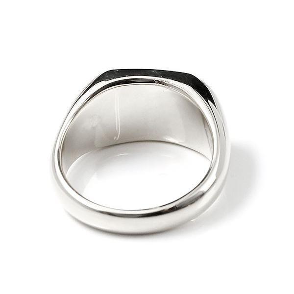 ハワイアンジュエリー メンズ リング ダイヤモンド ホワイトゴールドk10 印台 指輪 幅広 ハワイアン スクロール ダイヤ 一粒 10金 男性用 送料無料|atrus|03