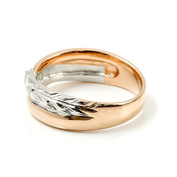 婚約指輪 安い ハワイアンジュエリー プラチナ アイオライト エンゲージリング ピンキーリング リング 指輪 一粒 ピンクゴールドk18 18金コンビ 18k pt900