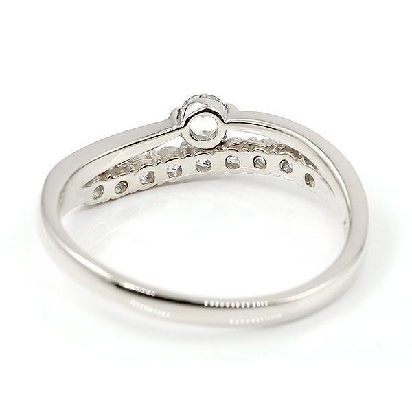 リング ダイヤモンド シルバー ウェーブ 指輪 sv925 ハーフエタニティ 2連リング ダイヤ 4月誕生石 ピンキーリング レディース 母の日
