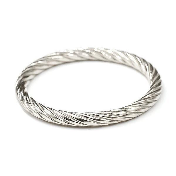 ペアリング シルバー925 指輪 エンドレスロープ sv925 ストレート 地金 結婚指輪 マリッジリング 重ね付け リング カップル 母の日
