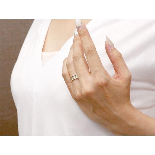 婚約指輪 リング ホワイトゴールドk10 ダイヤモンド ピンキーリング 幅広 ダイヤ 指輪 透かし エンゲージリング 10金 宝石 レディース 母の日