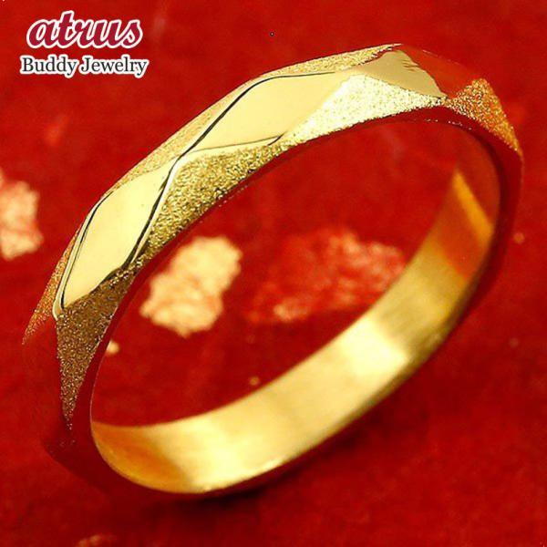 リング 純金 メンズ 24金 ゴールド k24 指輪 ピンキーリング ホーニング加工 鏡面加工 婚約指輪 エンゲージリング 地金リング 17-21号 ストレート 送料無料
