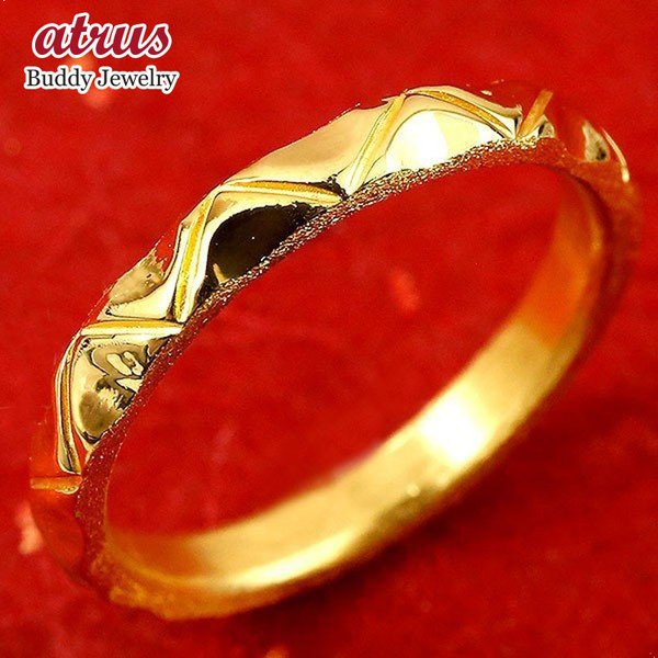 リング ゴールド 24金指輪 純金24k k24 レディース 婚約指輪 安い ピンキーリング ホーニング加工 鏡面加工 エンゲージリング 地金 1-16号 ストレート 送料無料