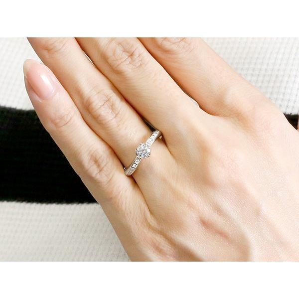 婚約指輪 リング ダイヤモンド シルバー エンゲージリング ダイヤ 0.3ct 一粒 大粒 指輪 ピンキーリング sv925 宝石 レディース 母の日