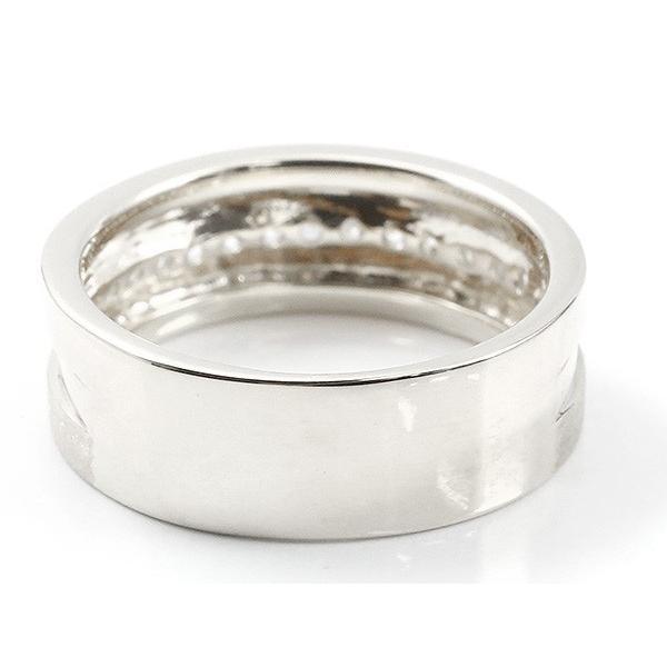 婚約指輪 リング シルバー925 ダイヤモンド エンゲージリング ダイヤ 指輪 幅広 つや消し ピンキーリング sv925 宝石 レディース 母の日