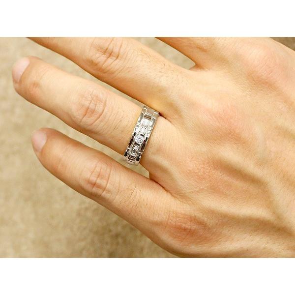 ペアリング ホワイトゴールドk18 キュービックジルコニア エンゲージリング 指輪 幅広 ピンキーリング マリッジリング 婚約指輪 18金 宝石  カップル ストレート