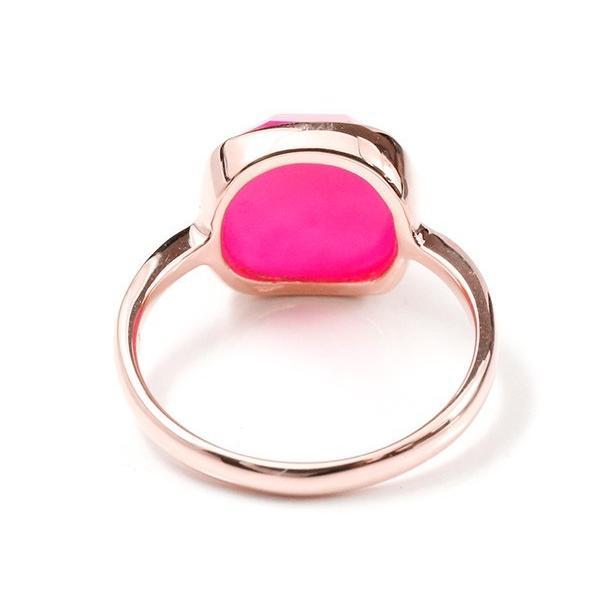 婚約指輪 リング ピンクゴールドk10 ピンクカルセドニー エンゲージリング 指輪 ピンキーリング 10金 レディース 母の日