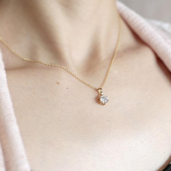 ネックレス レディース 一粒 ダイヤモンド 大粒 1カラットサイズ相当 スワロフスキーキュービック ハート インフィニティ クローバー シルバー925 送料無料 atrus 12