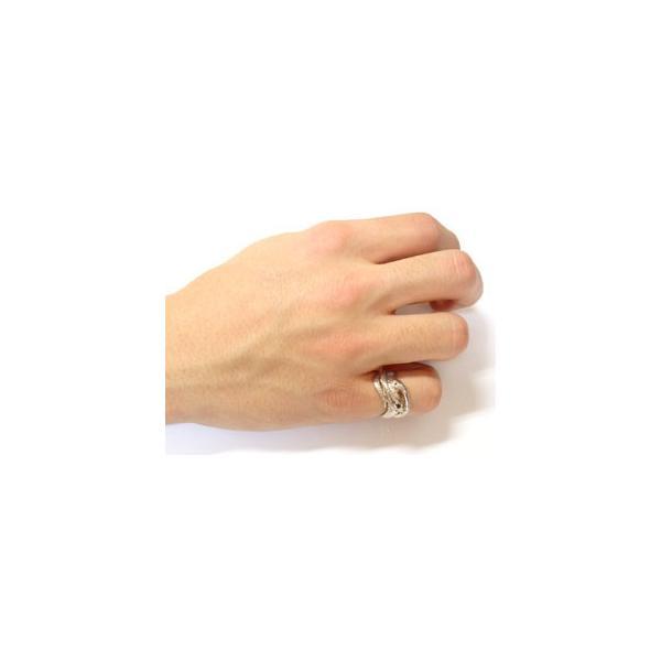 ブラックダイヤモンド シトリン スネーク 双頭のへび 蛇 指輪 シルバー ダイヤ 母の日