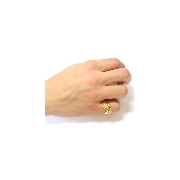 ピンキーリング ブラックダイヤモンド シトリン スネーク 双頭のへび 蛇 指輪 イエローゴールドk18 18金 ダイヤ 11月誕生石 母の日