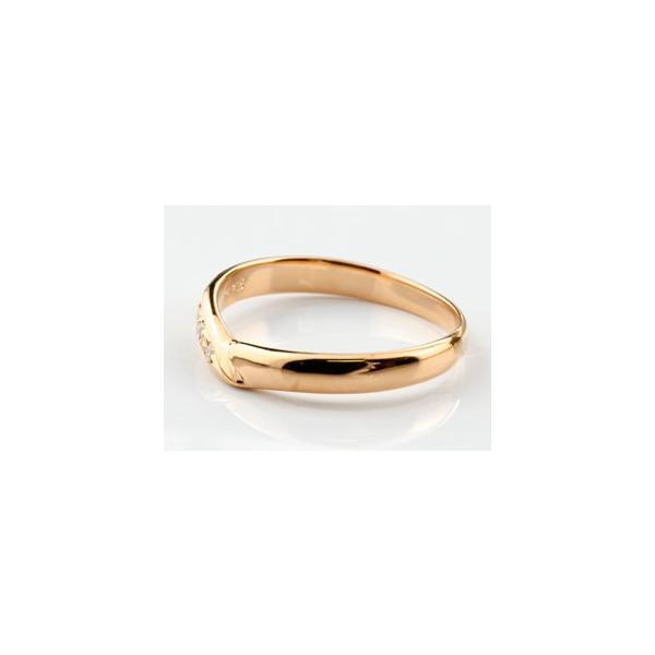 マリッジリング 結婚指輪 ペアリング ダイヤモンド ピンクゴールドk18 結婚式 18金 ダイヤ ストレート カップル メンズ レディース