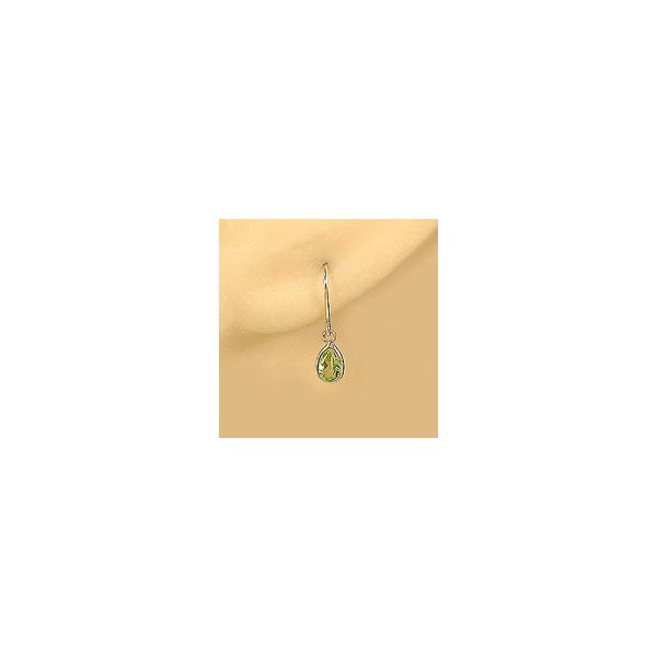 ピアス ゆれる 18金 ペリドット ピアス 8月誕生石 イエローゴールドk18 フックピアス 天然石 レディース 宝石 最短納期 揺れるピアス 母の日