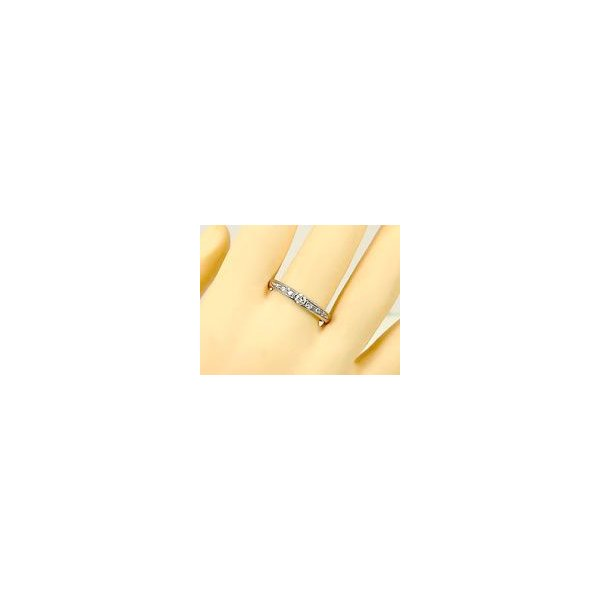 鑑定書付き 婚約指輪 ダイヤモンド エタニティ エタニティリング エンゲージリング 指輪 リング ホワイトゴールドK18 一粒 SI 18金 ダイヤ ストレート  女性