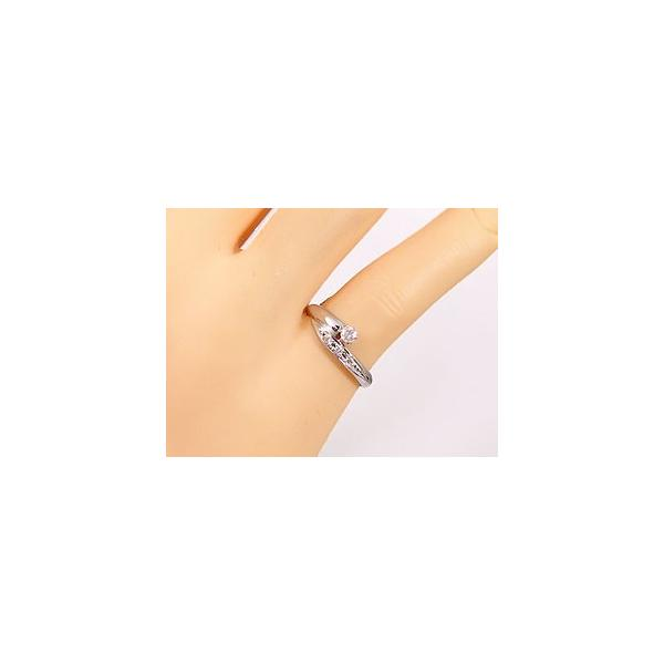 ピンキーリング ダイヤモンドリング プラチナ 指輪 一粒 4月誕生石 ストレート 母の日