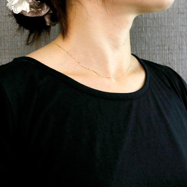 ネックレス レディース 18金 チェーン ベネチアンチェーン イエローゴールドk18 40cm 地金 18k YG 送料無料|atrus|04
