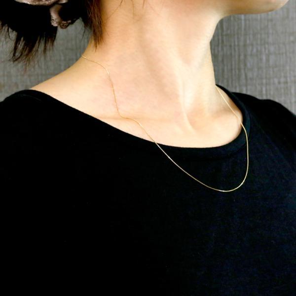 ネックレス チェーン レディース 18金 メンズ  ロングネックレス イエローゴールドk18 18k YG ベネチアン 50cm 地金 あすつく 送料無料|atrus|04