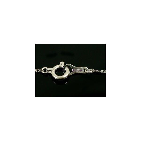 ロングプラチナ ネックレス スクリューチェーン レディース 60cm 地金ネックレス pt850 母の日