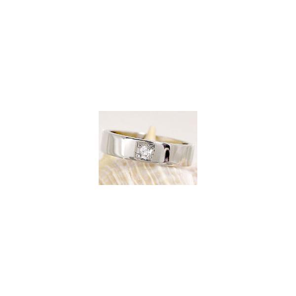 ペアリング ホワイトゴールドk18 ダイヤモンド 結婚指輪 マリッジリング 結婚式 18金 ダイヤ ストレート カップル  プレゼント 女性 母の日