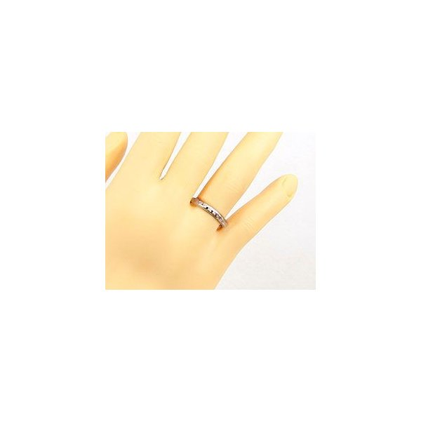 ダイヤモンド エタニティ エンゲージリング リング ホワイトゴールドK18 婚約指輪 エタニティリング 指輪 18金 リング ダイヤ ストレート  女性 母の日
