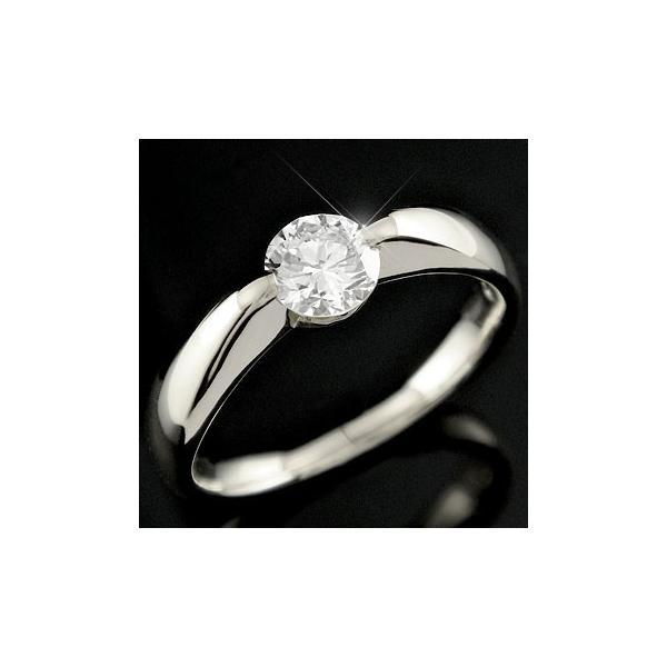 ピンキーリング 鑑定書付 ダイヤモンド リング 一粒 ダイヤ 大粒 指輪 ホワイトゴールドk18 18k 18金 VVS1クラス ダイヤ ストレート 送料無料