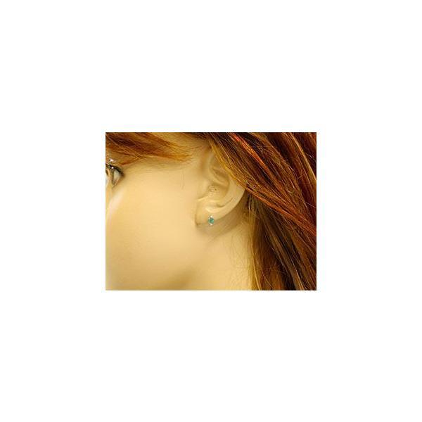 ピアス レディース エメラルドダイヤモンド イエローゴールドk18 5月誕生石 18金 天然石 ダイヤ 宝石 18k 母の日