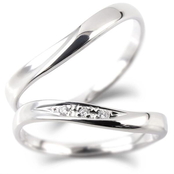 結婚指輪 安い ペアリング プラチナ マリッジリング ダイヤモンド ダイヤ 結婚式 カップル  プレゼント 女性 送料無料|atrus