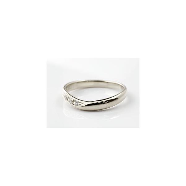 結婚指輪 安い ペアリング プラチナ マリッジリング ダイヤモンド ダイヤ 結婚式 カップル  プレゼント 女性 送料無料|atrus|04