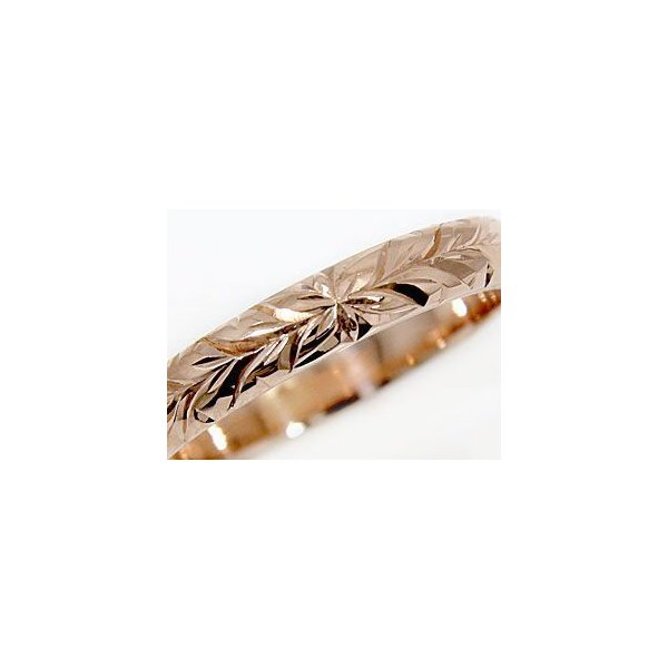 ハワイアンジュエリー エンゲージリング 婚約指輪 ハワイアンリング 指輪 ピンクゴールドK18 18金 k18pg ストレート シンプル 人気  女性 ペア 母の日