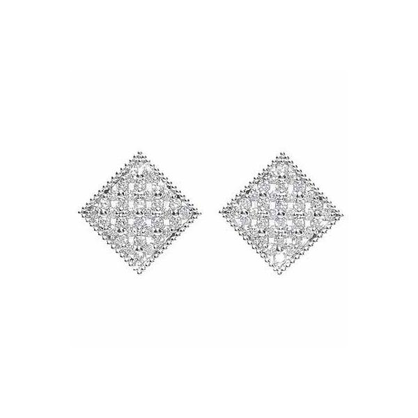 シンプル ピアス ダイヤモンド ブラックダイヤモンド ホワイトゴールド ダイヤピアス ダイヤ 18金 宝石 母の日