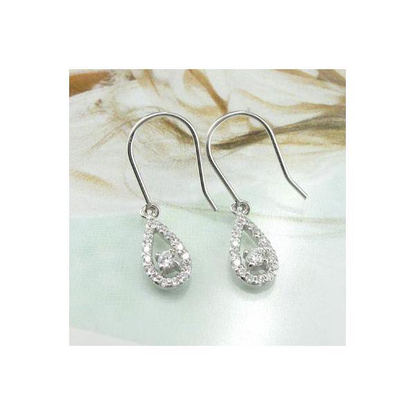 ピアス プラチナ フック ピアス つゆ型 ペアシェイプ ダイヤモンド プラチナ Pt900 ダイヤピアス ダイヤ カップル 母の日