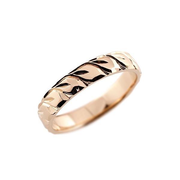ピンキーリング ハワイアンジュエリー リング ピンクゴールドk18 指輪 ハワイアンリング 地金リング 18金 k18pg ストレート 母の日