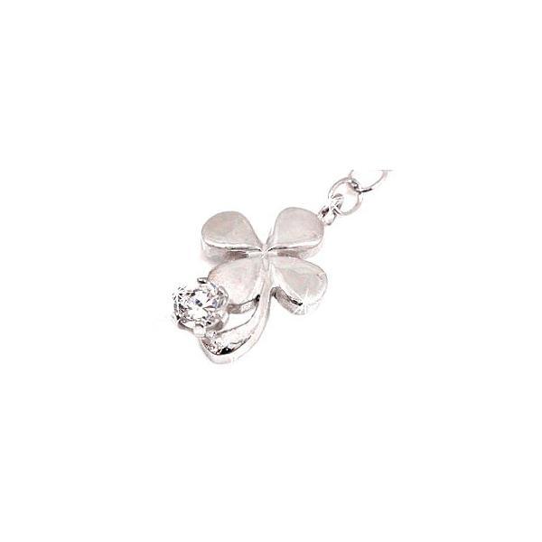 ダイヤモンド アンクレット 四葉 クローバー ダイヤモンド 0.10ct プラチナ850 PT850 一粒 ダイヤ チェーン レディース ダイヤ 宝石 クリスマス 女性