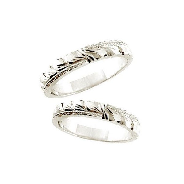 b8921720e3 結婚指輪 ハワイアン マリッジリング 人気 ペアリング プラチナリング ミル打ち 結婚式 ストレート カップル ...