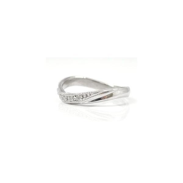 マリッジリング ダイヤモンド 結婚指輪 ペアリング ホワイトゴールドK18 ミル打ち 結婚式 18金 ダイヤ ストレート カップル メンズ レディース クリスマス 女性