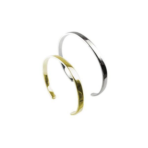 18金 バングル メンズ ブレスレット ペア ホワイトゴールドK18 イエローゴールドk18 シンプル MサイズLサイズ カップル レディース クリスマス 女性