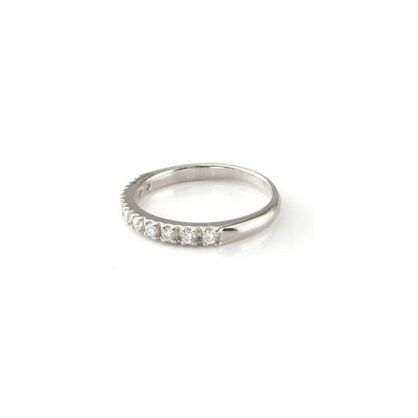 ピンキーリング エンゲージリング ダイヤモンド エタニティ エタニティリング ハードプラチナ950リング リング 婚約指輪 ダイヤ 0.20ct ストレート