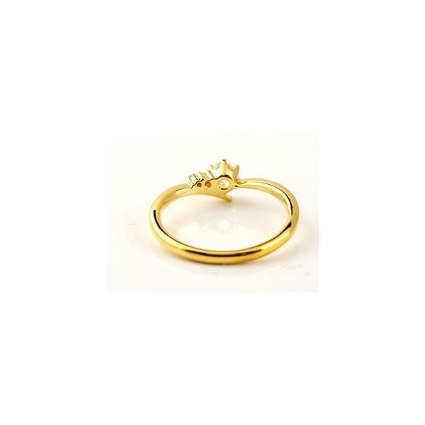 ピンキーリング 鑑定書付き SIクラス イエローゴールドK18 ダイヤモンド 婚約指輪 エンゲージリング リング 一粒 大粒 ダイヤ ストレート 18金 クリスマス 女性