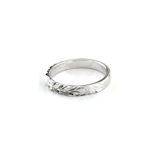 結婚指輪 ペアリング プラチナ ダイヤ ダイヤモンド マリッジリング ハワイアン リング イエローゴールドK18 K18 一粒 2本セット 結婚式 18金 ストレート 母の日