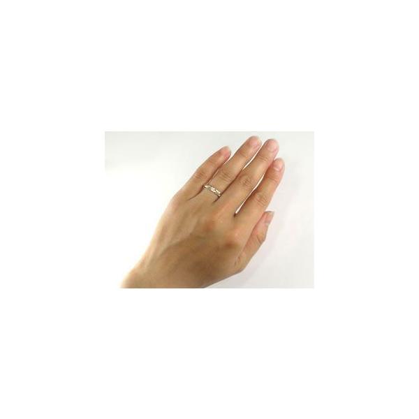 マリッジリング 結婚指輪 ペアリング ハワイアン イエローゴールドK18 K18 ダイヤモンド 一粒 ハワイアンジュエリー2本セット 結婚式 18金 ダイヤ ストレート