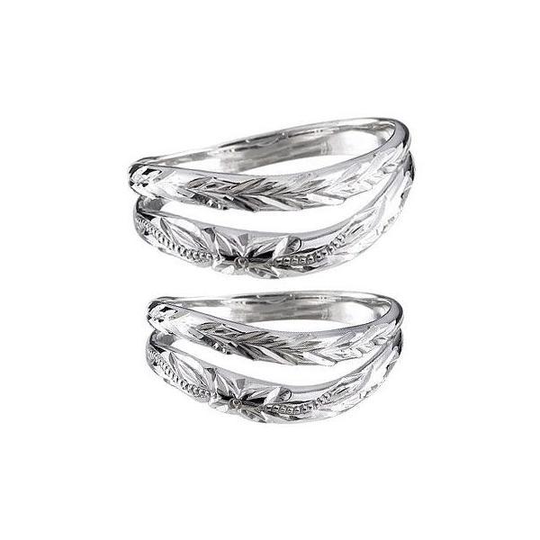 マリッジリング プラチナ ミル打ち 結婚指輪 ペアリング ハワイアン リング 結婚式 ストレート カップル メンズ レディース クリスマス 女性