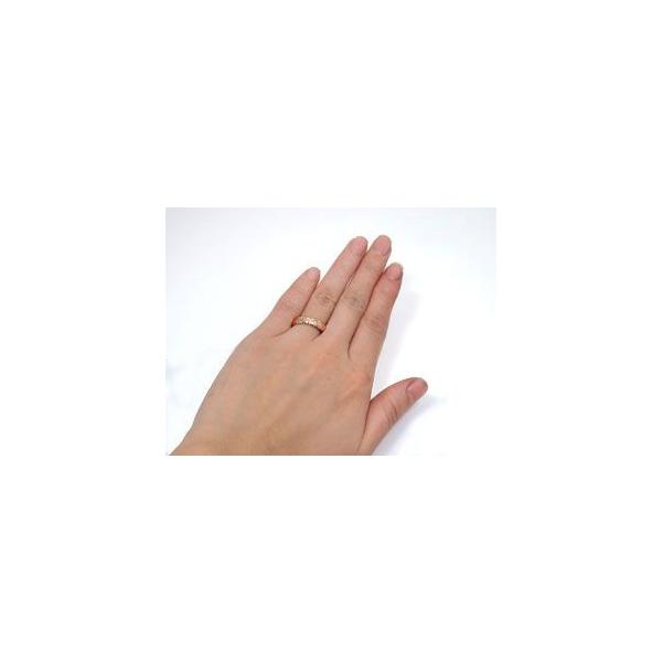 ハワイアンジュエリー ペアリング ホワイトゴールド18 ピンクゴールド18 結婚指輪 マリッジリング シンプル 人気  プレゼント 女性 母の日