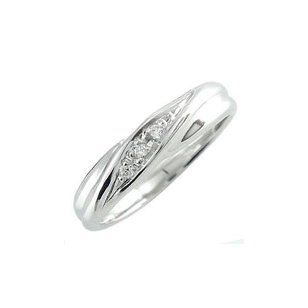 ピンキーリング プラチナリング プラチナ指輪ダイヤモンドリング ダイヤ 4月誕生石 ストレート クリスマス 女性