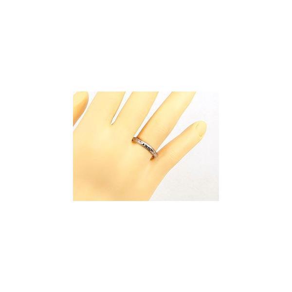 エンゲージリング 婚約指輪 ブラックダイヤモンド ダイヤ 0.03ct ホワイトゴールドk18 18金 ダイヤモンドリング ストレート 2.3 宝石 クリスマス 女性