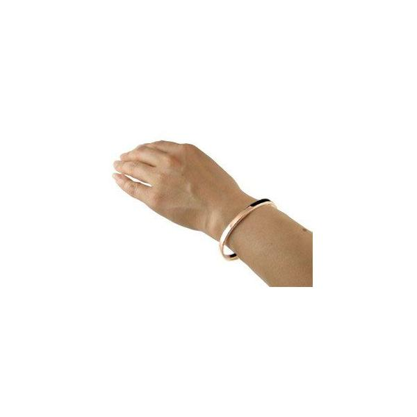 18金 バングル メンズ ブレスレット ピンクゴールドk18 シンプル レディース クリスマス 女性